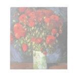 Van Gogh; Florero con las amapolas rojas, flores d Blocs De Notas