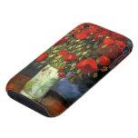 Van Gogh; Florero con las amapolas rojas, flores d iPhone 3 Tough Carcasa