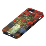 Van Gogh; Florero con las amapolas rojas, flores d iPhone 5 Case-Mate Protector
