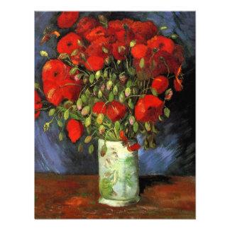 Van Gogh; Florero con las amapolas rojas, flores d Anuncio