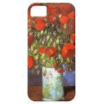 Van Gogh: Florero con las amapolas rojas iPhone 5 Case-Mate Fundas