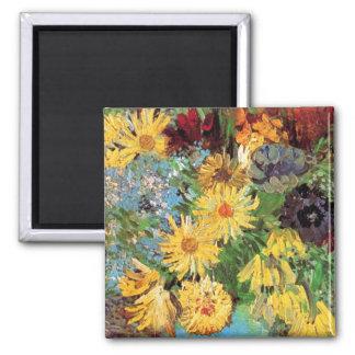 Van Gogh - florero con las margaritas y las Iman De Nevera
