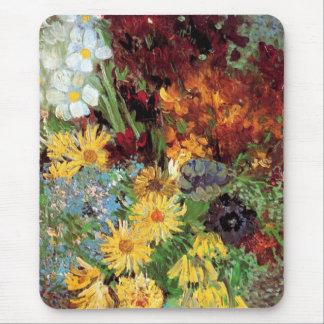 Van Gogh - florero con las margaritas y las Mouse Pads