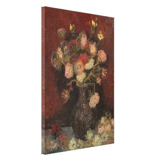 Van Gogh - florero con los asteres y los gladiolos Impresiones En Lienzo Estiradas