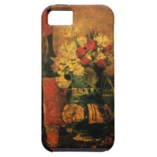 Van Gogh; Florero con los claveles, los rosas y un iPhone 5 Protectores