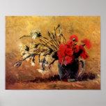 Van Gogh - florero con los claveles rojos y Impresiones