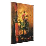 Van Gogh - florero con los claveles y los rosas Lona Envuelta Para Galerías