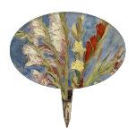Van Gogh - florero con los gladiolos y los asteres Decoración Para Tarta