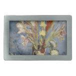 Van Gogh - florero con los gladiolos y los asteres Hebillas Cinturon Rectangulares