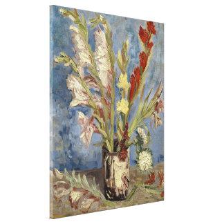 Van Gogh - florero con los gladiolos y los asteres Lienzo Envuelto Para Galerias