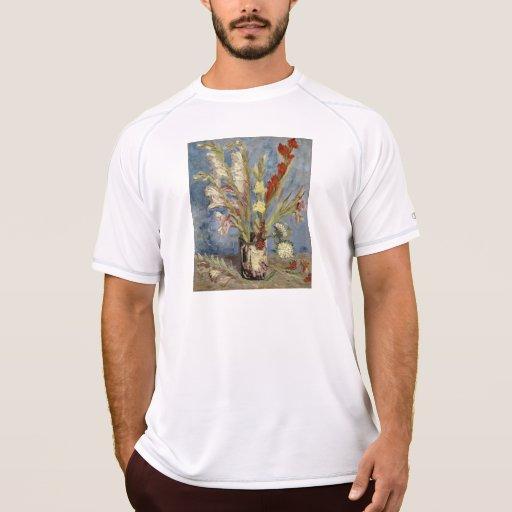 Van Gogh - florero con los gladiolos y los asteres Remera