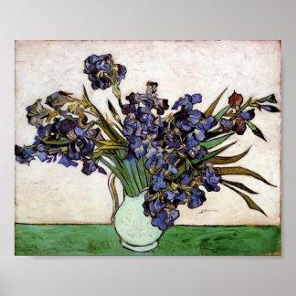 Van Gogh - florero con los iris Impresiones
