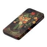 Van Gogh; Florero con Zinnias y geranios iPhone 4 Coberturas