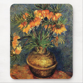 Van Gogh Flower Art, Fritillaries in a Copper Vase Mouse Pad