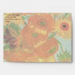 Van Gogh Flower Art, Vase with 12 Sunflowers Envelopes