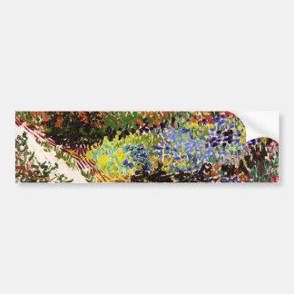 Van Gogh Flowering Garden At Arles Floral Fine Art Bumper Sticker