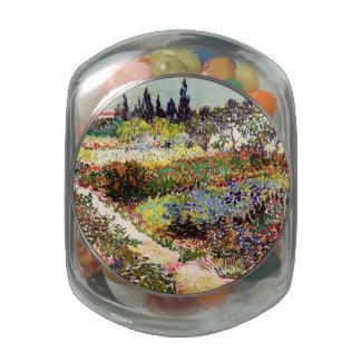Van Gogh Flowering Garden At Arles Floral Fine Art Jelly Belly Candy Jar
