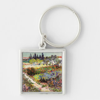 Van Gogh Flowering Garden At Arles Floral Fine Art Keychain