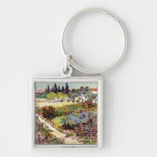 Van Gogh Flowering Garden At Arles Floral Fine Art Keychain
