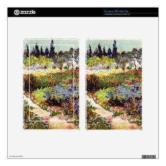 Van Gogh Flowering Garden At Arles Floral Fine Art Kindle Fire Decal