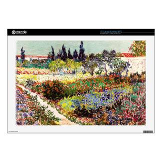 Van Gogh Flowering Garden At Arles Floral Fine Art Laptop Decals