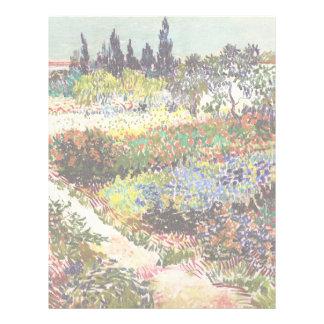 Van Gogh Flowering Garden At Arles Floral Fine Art Letterhead
