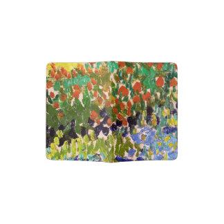 Van Gogh Flowering Garden At Arles Floral Fine Art Passport Holder