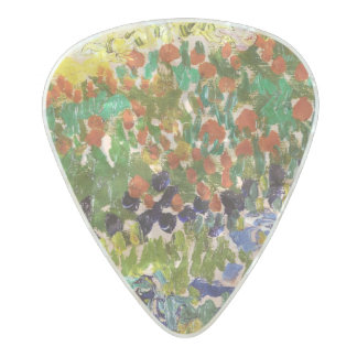Van Gogh Flowering Garden At Arles Floral Fine Art Pearl Celluloid Guitar Pick
