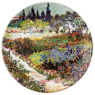 Van Gogh Flowering Garden At Arles Floral Fine Art Plate