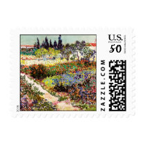 Van Gogh Flowering Garden At Arles Floral Fine Art Postage
