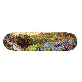 Van Gogh Flowering Garden At Arles Floral Fine Art Skateboard
