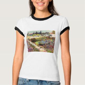 Van Gogh Flowering Garden At Arles Floral Fine Art T-Shirt