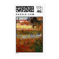 Van Gogh Flowering Garden (F430) Fine Art Postage Stamps