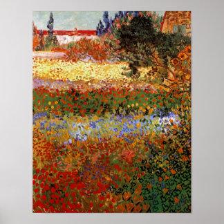 Van Gogh Flowering Garden F430 Fine Art Print