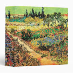 Van Gogh Flowering Garden Path, Vintage Farm Vinyl Binders