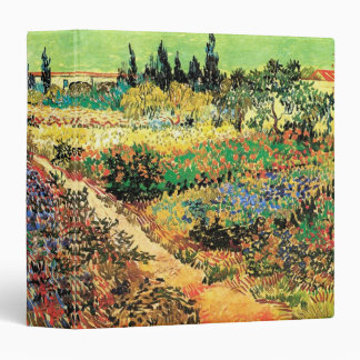 Van Gogh Flowering Garden Path, Vintage Fine Art Binder