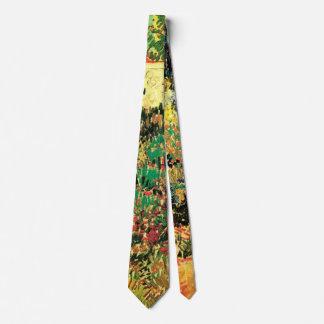 Van Gogh Flowering Garden Path, Vintage Fine Art Tie