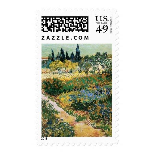 Van Gogh Flowering Garden with Path (F429) Postage Stamp