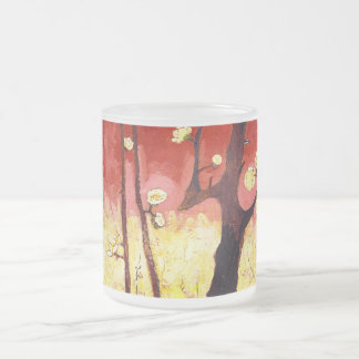 Van Gogh Flowering Plum Tree After Hiroshige Frosted Glass Coffee Mug