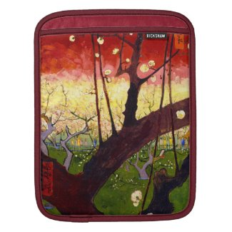 Van Gogh Flowering Plum Tree After Hiroshige Sleeve For iPads