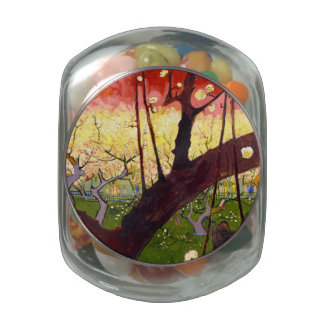 Van Gogh Flowering Plum Tree After Hiroshige Jelly Belly Candy Jar