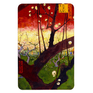 Van Gogh Flowering Plum Tree After Hiroshige Magnet