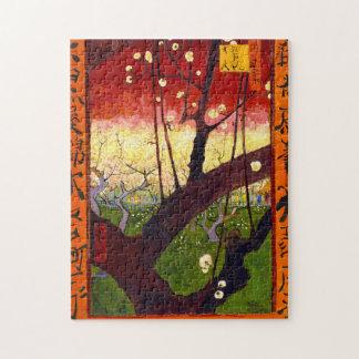 Van Gogh Flowering Plum Tree After Hiroshige Puzzles