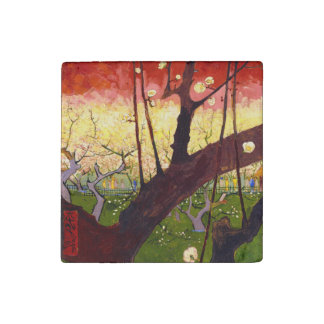 Van Gogh Flowering Plum Tree After Hiroshige Stone Magnet