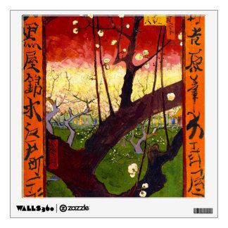 Van Gogh Flowering Plum Tree After Hiroshige Wall Decal
