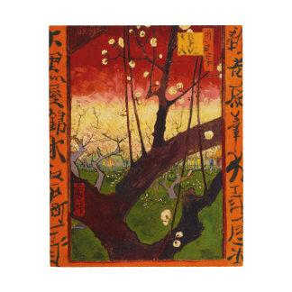 Van Gogh Flowering Plum Tree After Hiroshige Wood Wall Art