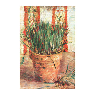 Van Gogh: Flowerpot with Chives Canvas Prints