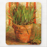 Van Gogh Flowerpot with Chives (F337) Mouse Pad