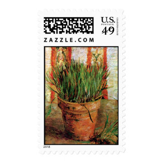 Van Gogh - Flowerpot With Chives Postage Stamp