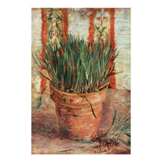 Van Gogh: Flowerpot with Chives Posters